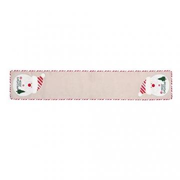 BWLIZIYEZI Weihnachtstischläufer, 182 cm, Weihnachts-Tischwäsche für Familie, Weihnachten, Urlaub, Tisch, Heim-Party-Dekoration - 8