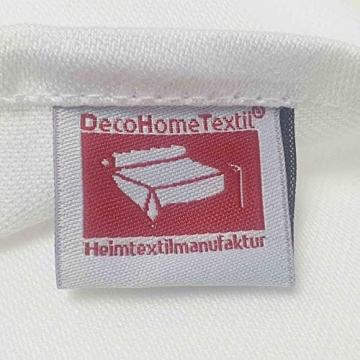 Damast Tischdecke weiß - 130 x 220 cm - bei 95°C waschbar Feinste Vollzwirn 100% Baumwolle mercerisiert aus hochwertigem Ringgarn - 2