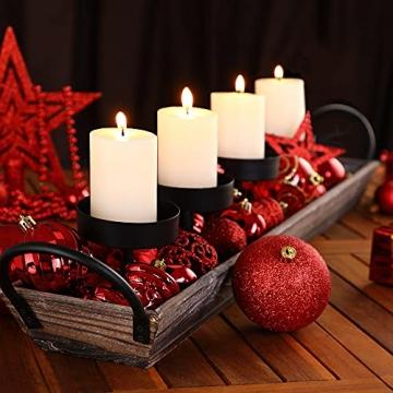 Deuba Weihnachtskugeln 100er Set Weihnachtsdeko matt glänzend Glitzer christbaumkugeln rot Ø 3 4 6 cm innen außen - 2