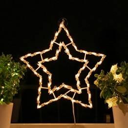 Fenster-Silhouette Weihnachten 42cm Weihnachtsdeko Fensterbilder Beleuchtet Weihnachtsbeleuchtung innen Fensterdeko zum aufhängen - 1