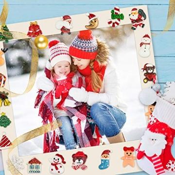FHzytg 64 Stück Weihnachten Tischdeko Mini Deko Weihnachten, Deko Weihnachten Basteln Deko Weihnachten Mini Miniatur Deko Weihnachten Mini Figuren Weihnachten Miniatur für Tischdeko - 3