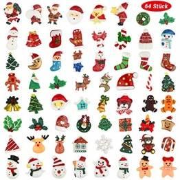 FHzytg 64 Stück Weihnachten Tischdeko Mini Deko Weihnachten, Deko Weihnachten Basteln Deko Weihnachten Mini Miniatur Deko Weihnachten Mini Figuren Weihnachten Miniatur für Tischdeko - 1