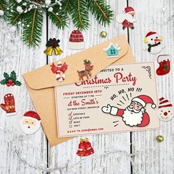 FHzytg 64 Stück Weihnachten Tischdeko Mini Deko Weihnachten, Deko Weihnachten Basteln Deko Weihnachten Mini Miniatur Deko Weihnachten Mini Figuren Weihnachten Miniatur für Tischdeko - 4