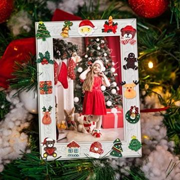 FHzytg 64 Stück Weihnachten Tischdeko Mini Deko Weihnachten, Deko Weihnachten Basteln Deko Weihnachten Mini Miniatur Deko Weihnachten Mini Figuren Weihnachten Miniatur für Tischdeko - 5