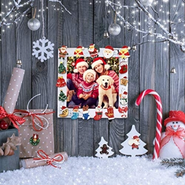 FHzytg 64 Stück Weihnachten Tischdeko Mini Deko Weihnachten, Deko Weihnachten Basteln Deko Weihnachten Mini Miniatur Deko Weihnachten Mini Figuren Weihnachten Miniatur für Tischdeko - 6