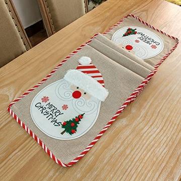 Flueyer 1,8 m Weihnachtstischläufer, Weihnachtsmuster, Esstischläufer, Weihnachts-Tischwäsche für Familie, Weihnachten, Urlaub, Tisch, Heim-Party-Dekor - 2
