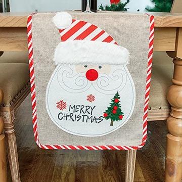 Flueyer 1,8 m Weihnachtstischläufer, Weihnachtsmuster, Esstischläufer, Weihnachts-Tischwäsche für Familie, Weihnachten, Urlaub, Tisch, Heim-Party-Dekor - 5