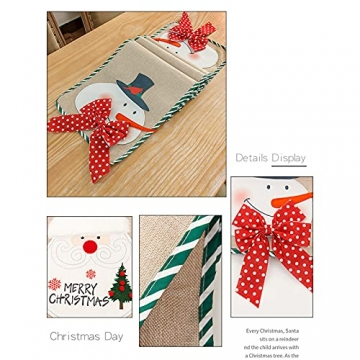 Flueyer 1,8 m Weihnachtstischläufer, Weihnachtsmuster, Esstischläufer, Weihnachts-Tischwäsche für Familie, Weihnachten, Urlaub, Tisch, Heim-Party-Dekor - 6