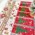 Gzjp Tischläufer, Weihnachtstischläufer, Table Runner Christmas, Weihnachtstischwäsche Mit Quaste, Esszimmer Party Urlaub Dekoration, 180x35 cm, Waschbar, Roter Weihnachtskranz - 3