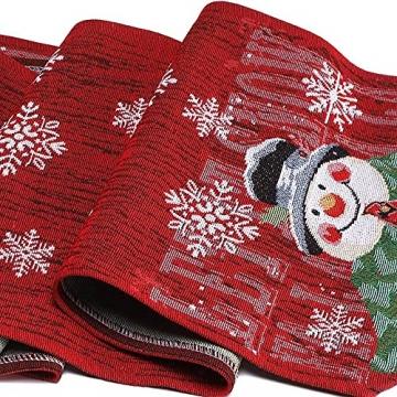 L.A.D. Lange Weihnachtstischwäsche, Weihnachtsmann-Leinen-Jute-Tischläufer für Weihnachtsfeier, Abendessen und Veranstaltungen, Dekoration (33 x 177,8 cm) - 4