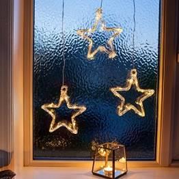 LED Stern Fensterdeko Weihnachtsdeko Timer Batteriebetrieb Lights4fun - 1