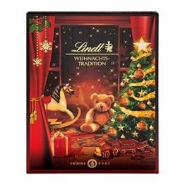 Lindt Weihnachts-Tradition Adventskalender 2021   253 g verschiedene Pralinen- und Schokoladen-Überraschungen   Ideales Schokoladen-Geschenk - 1