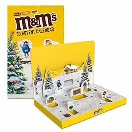 M&M'S Adventskalender 2021, Peanut, Chocolate und Crispy Schokolade, Weihnachtskalender, 346 g - 1
