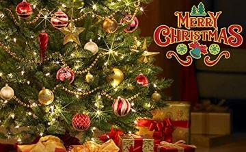 OurWarm 36er Set Christbaumkugeln,6 Arten von großem Rot und Gold bruchsicheren Weihnachtskugel Set für Weihnachtsbaumschmuck,Christbaumschmuck, Hochzeitsdekoration, (7cm Ø Durchmesser) - 4