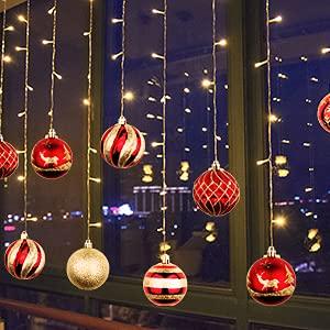 OurWarm 36er Set Christbaumkugeln,6 Arten von großem Rot und Gold bruchsicheren Weihnachtskugel Set für Weihnachtsbaumschmuck,Christbaumschmuck, Hochzeitsdekoration, (7cm Ø Durchmesser) - 5