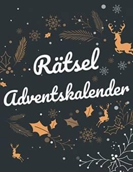 Rätsel Adventskalender: Großer Rätsel Adventskalender für Erwachsene mit Sudoku, Wortsuche und weitere Rätselarten - Weihnachtliches Rätselheft - 1