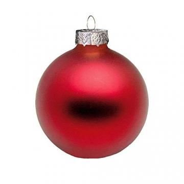 Riffelmacher 26252 - Glaskugeln rot, Durchmesser 6 cm, 24 Stück im Koffer, PVC-frei, Baumschmuck, Weihnachtsbaum, Dekoration, Weihnachten - 3