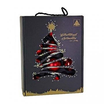Riffelmacher 26252 - Glaskugeln rot, Durchmesser 6 cm, 24 Stück im Koffer, PVC-frei, Baumschmuck, Weihnachtsbaum, Dekoration, Weihnachten - 1