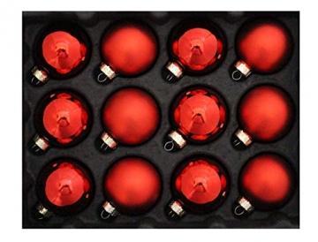 Riffelmacher 26252 - Glaskugeln rot, Durchmesser 6 cm, 24 Stück im Koffer, PVC-frei, Baumschmuck, Weihnachtsbaum, Dekoration, Weihnachten - 5