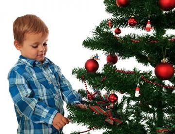 Riffelmacher 26252 - Glaskugeln rot, Durchmesser 6 cm, 24 Stück im Koffer, PVC-frei, Baumschmuck, Weihnachtsbaum, Dekoration, Weihnachten - 6