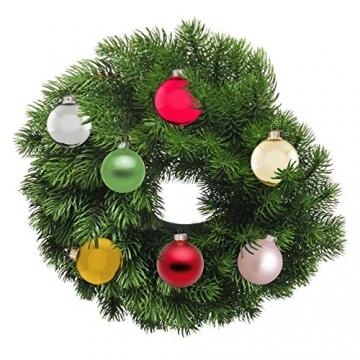 Riffelmacher 26252 - Glaskugeln rot, Durchmesser 6 cm, 24 Stück im Koffer, PVC-frei, Baumschmuck, Weihnachtsbaum, Dekoration, Weihnachten - 7