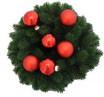 Riffelmacher 26252 - Glaskugeln rot, Durchmesser 6 cm, 24 Stück im Koffer, PVC-frei, Baumschmuck, Weihnachtsbaum, Dekoration, Weihnachten - 8