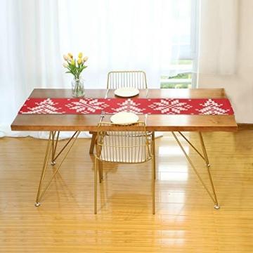 WENP Tischläufer für die Küche zu Hause Esstisch Dekor Küchenläufer Winterurlaub Nahtloses Strickmuster Weihnachtstischwäsche für Party- / Alltagsgebrauch (13x70in) - 2