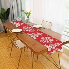 WENP Tischläufer für die Küche zu Hause Esstisch Dekor Küchenläufer Winterurlaub Nahtloses Strickmuster Weihnachtstischwäsche für Party- / Alltagsgebrauch (13x70in) - 1