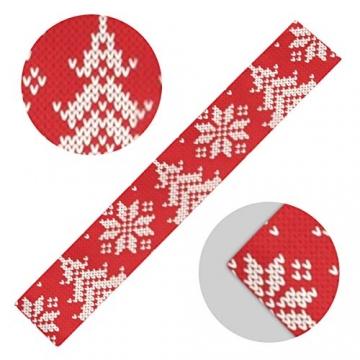 WENP Tischläufer für die Küche zu Hause Esstisch Dekor Küchenläufer Winterurlaub Nahtloses Strickmuster Weihnachtstischwäsche für Party- / Alltagsgebrauch (13x70in) - 5