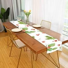 WENP Tischläufer für die Küche zu Hause Esstischdekor Tischläufer Vintage Holly Berry Hintergrund Nahtlose Weihnachtstischwäsche für Party- / Alltagsgebrauch (13x70in) - 1