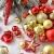 WEYON 113 Stück Christbaumkugeln Set Weihnachtskugeln aus Kunststoff Golden & Rot Baumschmuck Weihnachtsbaum Deko & Christbaumschmuck in unterschiedlichen Größen und Designs - 3