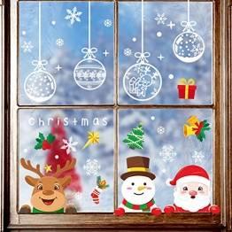Yitla Weihnachtsdeko Fenster Doppelseitiges Muster,218Fensterbilder Weihnachten Selbstklebend, Weihnachten Fenstersticker für Weihnachten Winter Dekoration (7 Sheets) - 1